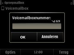 Nokia E6-00 - Voicemail - handmatig instellen - Stap 7