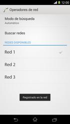 Sony Xperia M2 - Red - Seleccionar una red - Paso 10