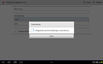 Samsung N8000 Galaxy Note 10-1 - E-mail - Handmatig instellen - Stap 13