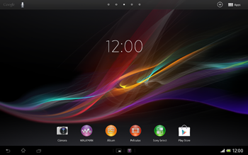 Sony Xperia Tablet Z - WiFi - Conectarse a una red WiFi - Paso 1
