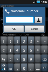 Samsung S5660 Galaxy Gio - Voicemail - Manual configuration - Step 6
