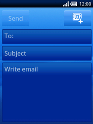 Sony Ericsson Xperia X10 Mini - Email - Sending an email message - Step 5