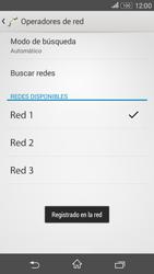 Sony Xperia E4g - Red - Seleccionar una red - Paso 10