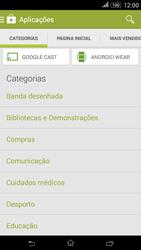 Sony Xperia E4 - Aplicações - Como pesquisar e instalar aplicações -  6