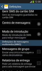 Samsung Galaxy Ace 3 LTE - SMS - Como configurar o centro de mensagens -  6