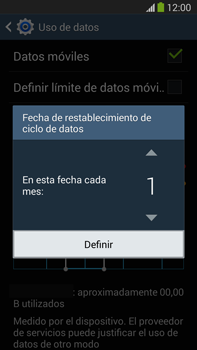Samsung Galaxy Note 3 - Internet - Ver uso de datos - Paso 7