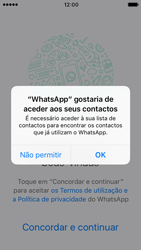 Apple iPhone SE iOS 10 - Aplicações - Como configurar o WhatsApp -  5