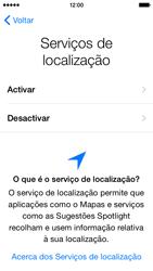 Apple iPhone 5s iOS 8 - Primeiros passos - Como ligar o telemóvel pela primeira vez -  11