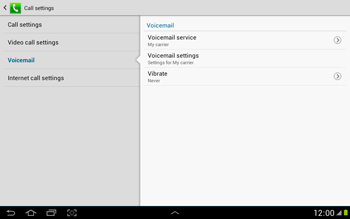 Samsung N8000 Galaxy Note 10-1 - Voicemail - Manual configuration - Step 7