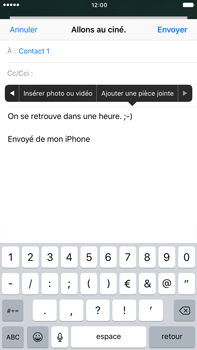 Apple iPhone 7 Plus - E-mails - Envoyer un e-mail - Étape 10