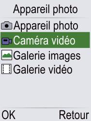 Doro Phone Easy 621 - Photos, vidéos, musique - Créer une vidéo - Étape 4