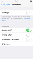 Apple iPhone 5 iOS 7 - MMS - Configuration manuelle - Étape 12