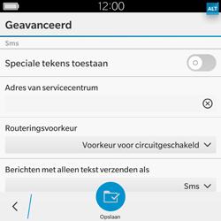 BlackBerry Classic - SMS - Handmatig instellen - Stap 9