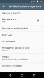 Sony Xperia XZ - Android Nougat - Segurança - Como ativar o código de bloqueio do ecrã -  13