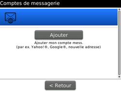 BlackBerry curve 3G - E-mails - Ajouter ou modifier un compte e-mail - Étape 13