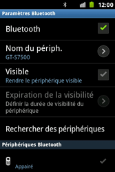 Samsung S7500 Galaxy Ace Plus - Bluetooth - connexion Bluetooth - Étape 11