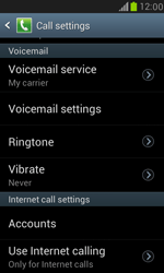 Samsung I8190 Galaxy S III Mini - Voicemail - Manual configuration - Step 4