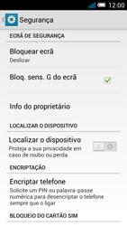 Alcatel POP C7 - Segurança - Como ativar o código de bloqueio do ecrã -  5