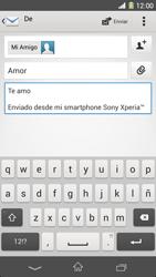 Sony Xperia Z1 - E-mail - Escribir y enviar un correo electrónico - Paso 10