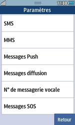 Samsung S5250 Wave 525 - Messagerie vocale - Configuration manuelle - Étape 5