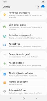 Samsung Galaxy A20 - Funções básicas - Como atualizar o software do seu aparelho - Etapa 4