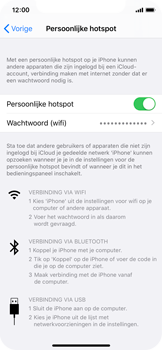 Apple iPhone X - iOS 13 - Internet - mijn data verbinding delen - Stap 8