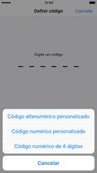 Apple iPhone 6s iOS 10 - Segurança - Como ativar o código de bloqueio do ecrã -  6