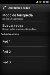 Sony Xperia E - Red - Seleccionar una red - Paso 8