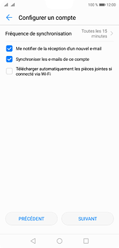 Huawei P20 - E-mail - Configuration manuelle (yahoo) - Étape 7