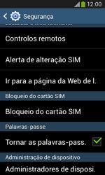 Samsung Galaxy Ace 3 LTE - Segurança - Como ativar o código PIN do cartão de telemóvel -  6