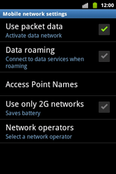 Samsung S5690 Galaxy Xcover - Network - Usage across the border - Step 6