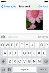 Apple iPhone 4 S iOS 7 - Mms - Envoi d