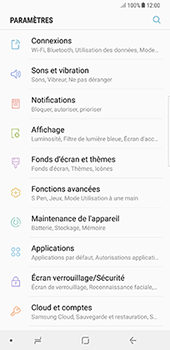 Samsung Galaxy Note 8 - Wi-Fi - Accéder au réseau Wi-Fi - Étape 4