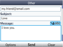 Nokia Asha 302 - Email - Sending an email message - Step 11