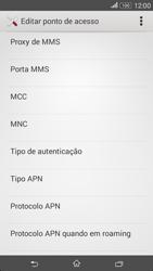 Sony Xperia E4 - Internet no telemóvel - Como configurar ligação à internet -  14