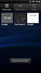 Sony Ericsson Xperia Arc - Internet - Internet browsing - Step 9