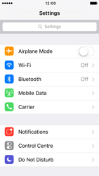 Apple iPhone 5s iOS 9 - WiFi and Bluetooth - Manual configuration - Step 3