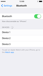 Apple iPhone 5c iOS 10 - WiFi and Bluetooth - Setup Bluetooth Pairing - Step 5