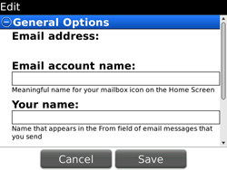 BlackBerry 9700 Bold - E-mail - Manual configuration - Step 14