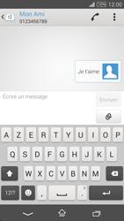 Sony Xpéria T3 - Contact, Appels, SMS/MMS - Envoyer un SMS - Étape 9