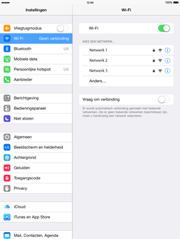Apple iPad Air (Retina) met iOS 8 - WiFi - Handmatig instellen - Stap 5