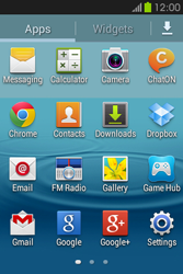Samsung S6810P Galaxy Fame - Internet - Enable or disable - Step 3