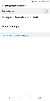 LG K12+ - Wi-Fi - Como usar seu aparelho como um roteador de rede wi-fi - Etapa 5