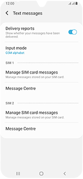 Samsung Galaxy A40 - SMS - Manual configuration - Step 11