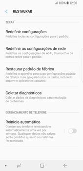 Samsung Galaxy S9 - Funções básicas - Como restaurar as configurações originais do seu aparelho - Etapa 8