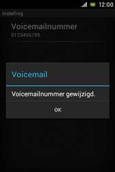 Sony C1505 Xperia E - Voicemail - Handmatig instellen - Stap 8