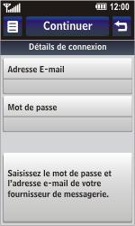 LG GC900 Viewty Smart - E-mail - Configuration manuelle - Étape 9