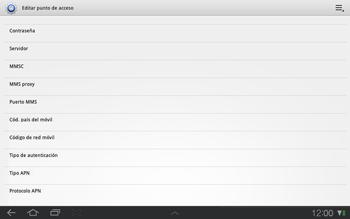 Samsung P7500 Galaxy Tab 10-1 - Mensajería - Configurar el equipo para mensajes multimedia - Paso 11