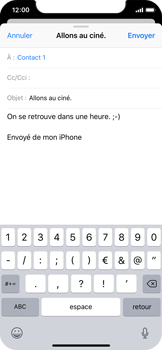 Apple iPhone X - iOS 12 - E-mail - envoyer un e-mail - Étape 7