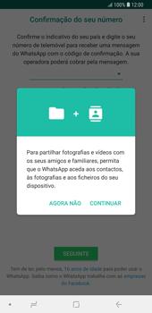 Samsung Galaxy Note9 - Aplicações - Como configurar o WhatsApp -  6